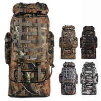 FENGTU 100L grandes mochilas de escalada de senderismo camuflaje Softback mochila para hombres y mujeres bolsas deportivas Camping mochila de viaje