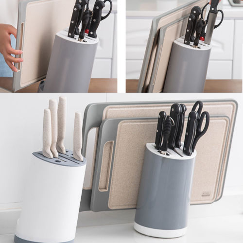 ABS Knife Block Wall-Mount Magnetic Knife Storage Holder Chef Rack Strip Utensil Kitchen Tool