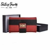 2017 Sally Young New Women Wallet Long Purse Hasp Closure Wallet Pu Leather Feminina Women Fashion