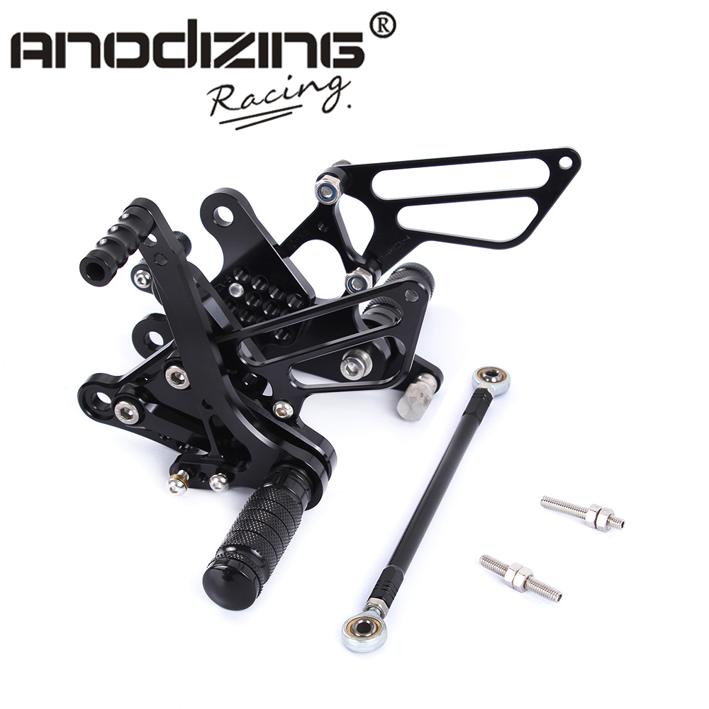 Full CNC Aluminum Motorcycle Adjustable Rearsets Rear Sets Foot Pegs For KAWASAKI ZX6R 2009 2012