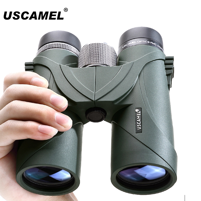 USCAMEL Binoculars Optical Military HD 8x42 10x42 High Power Telescope Professional Hunting Outdoor Telescope 2017 new arrival all optical hd waterproof fmc film monocular telescope 10x42 binoculars for outdoor travel hunting