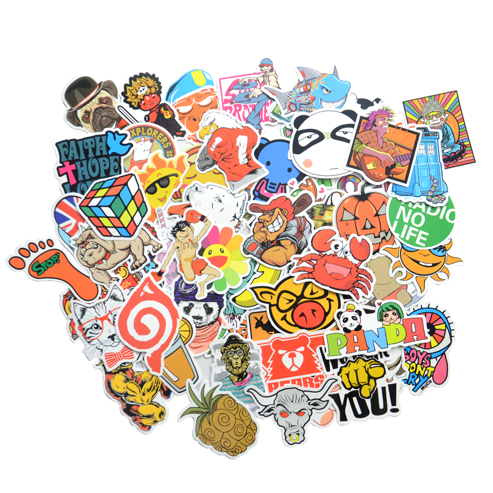 2018 car styling sticker bomb stickers skateboard graffiti laptop stickers motorcycle luggage bags accessories vinyl decal in car stickers from automobiles