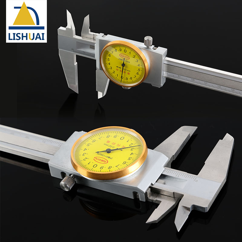 0-300mm Shockproof Stainless Steel Dial Caliper/Vernier Caliper with Inside, Outside, Step and Depth Measurement authentic constant vernier caliper 0 100 mm diameter diameter silver dollar jade depth measurement accuracy of 0 02