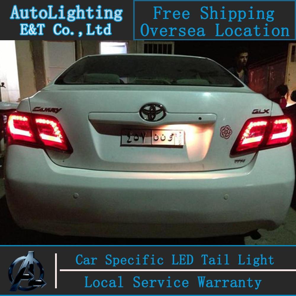 Авто Стиль освещения из светодиодов хвост лампы для Toyota Камри светодиодный фонарь в сборе 2008 Версия крышка лампы ДРЛ Н7 с HID комплект 2 шт.