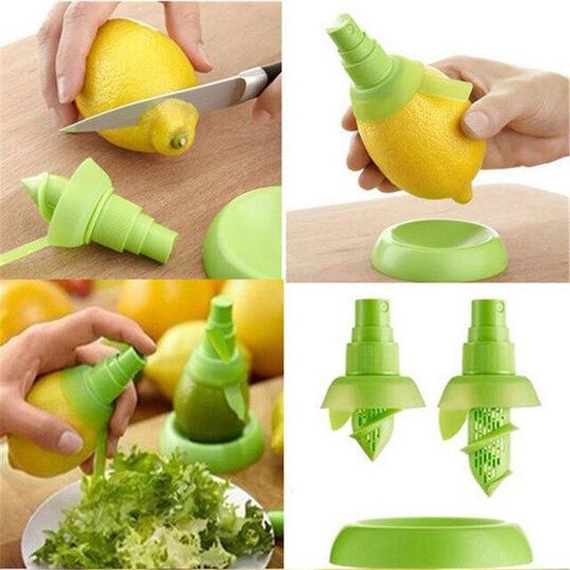 2 Pz/set Creativo Frutta Spruzzatore di Limone Succo di Agrumi Lime Spremiagrumi
