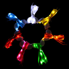 EYKOSI Fashion Unisex LED Glowing Shoelaces Multicolor Flashing Luminous Outdoor Party Kit Shoestrings Solid PP New Fashion