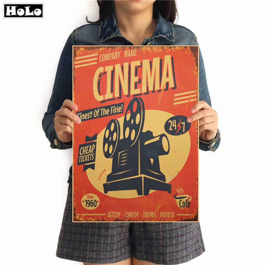 Classic Cinema Movie poster vintage posters adornment of retro paper wall stickers posters for wall pictures home living room