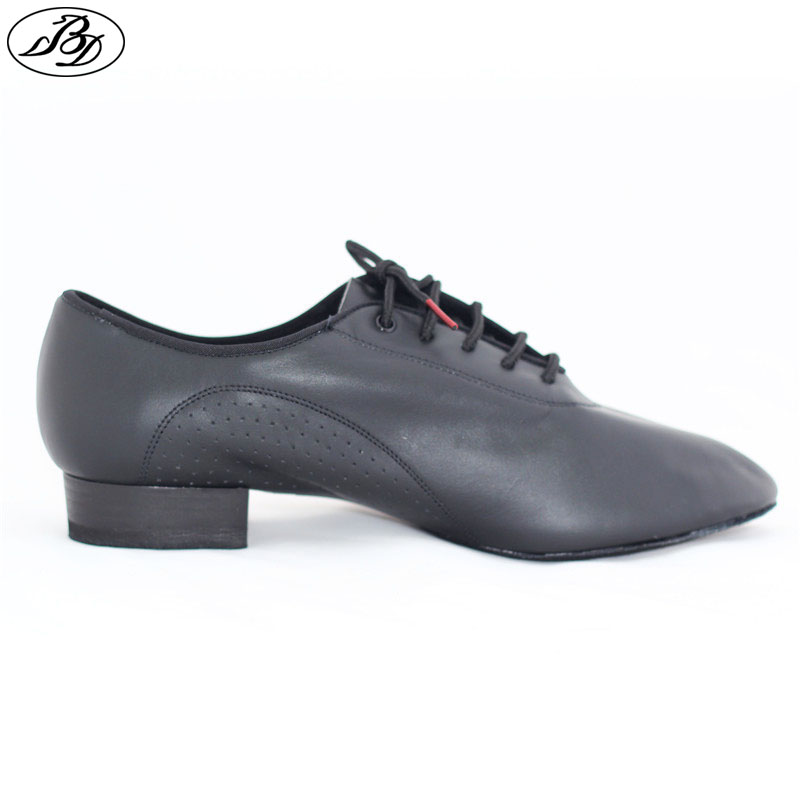Men Standard Dance Shoe BD 309  Ballroom Dancing Shoe Soft Leather Dancesport Split Sole Modern Black Shoe Napped Leather Sole dancesport bd dance 401 men latin dance shoes straight sole cow split leather men ballroom samba chacha rumba jive paso doble