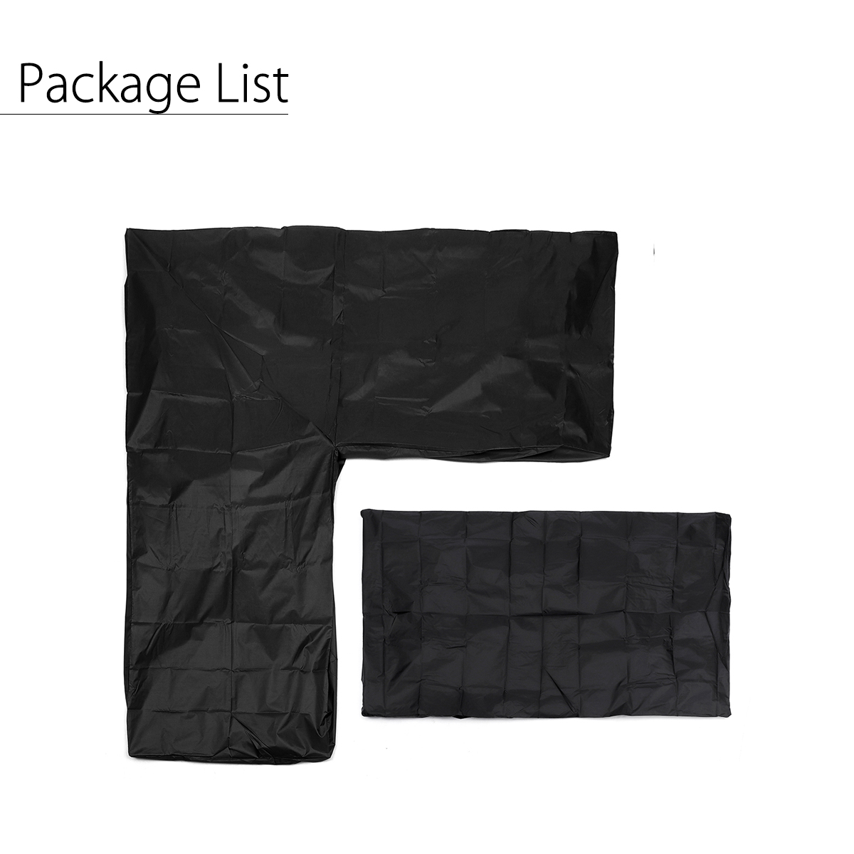 Dust Covers All-purpose Furniture Cover Set Waterproof Outdoor Sectional Black L Shape Corner Sofa Couch Cover+rectangular Protection Covers Household Merchandises