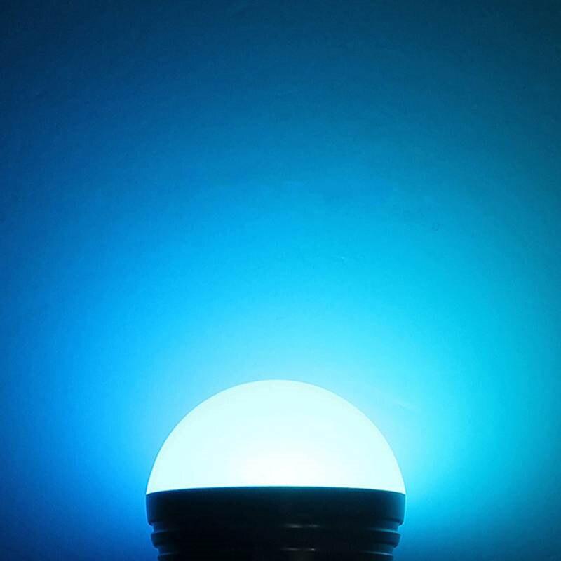 Купить с кэшбэком 10PCS AC85V-265V E27 E14 GU10 MR16 RGB Bulb Candle lamp 5W LED RGB Spot light magic Christmas lighting+Remote Control 16 colors