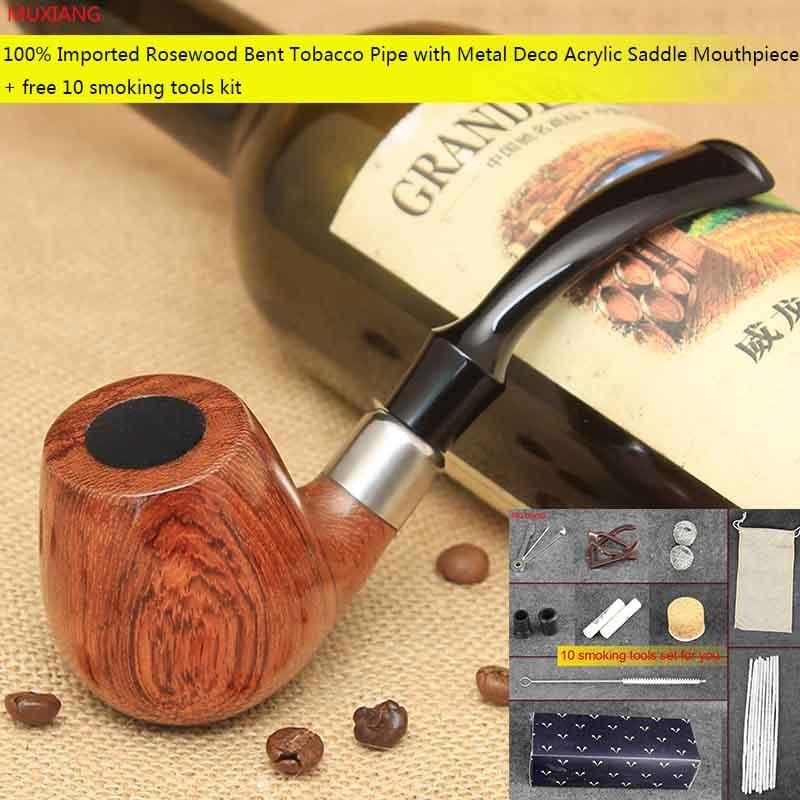 ᗔMuxiang 10 herramientas kit kevazingo pipa de tabaco de madera ...