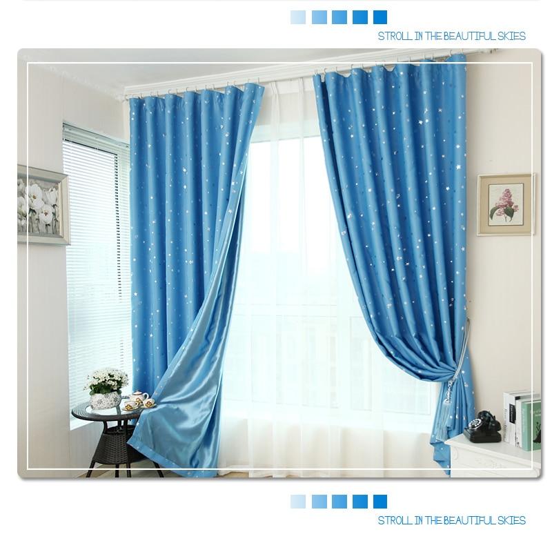 (Single Panel) Star Blackout curtains for bedroom living room curtain kid's room curtain la cortina del apagon cortina para sala