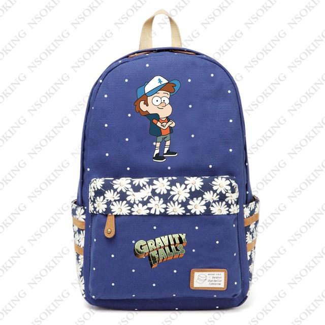 888963697f7b Гравити Фолз рюкзак аниме школьные холст цветочный принт сумки мужские и женские  популярные Мейбл Диппер Пайнс