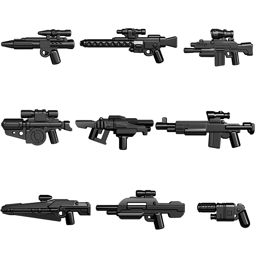 Guns Trek Halo Star Wars Science Fiction Future Weapons Pack for MOC Part Building Blocks Toys wars guns and votes