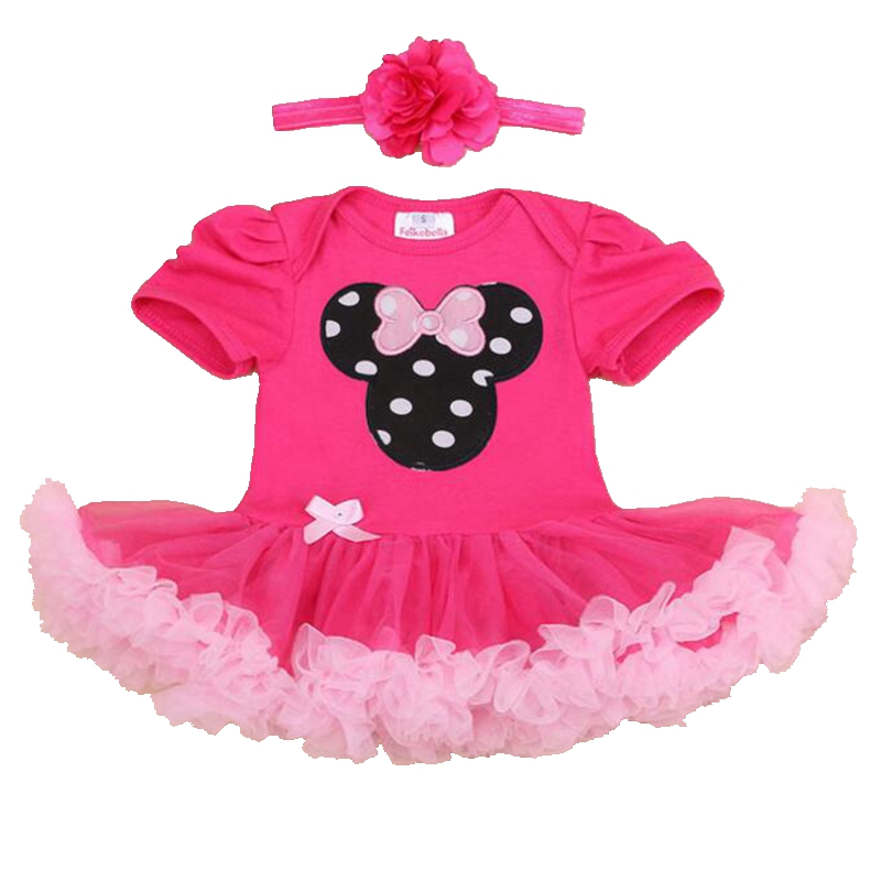 Pink Girls Clothes 2016 Summer Minnie Baby Girl Tutu Set Romper Dress Headband Ropa De Bebe Newborn Tutu Sets Infant Clothing 2016 bebe rompers ropa pink minnie hoodies newborn long romper baby girl clothing roupa infantil jumpsuit recem nascido