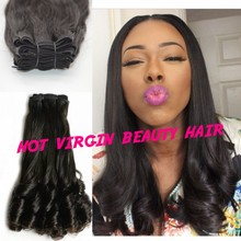 Grade 8a Nigeria Aunty Funmi Hair Unprocessed Human Hair Weave Virgin Romance Spiral Curls 3 Bundles Bouncy Curly 3PCS Lots