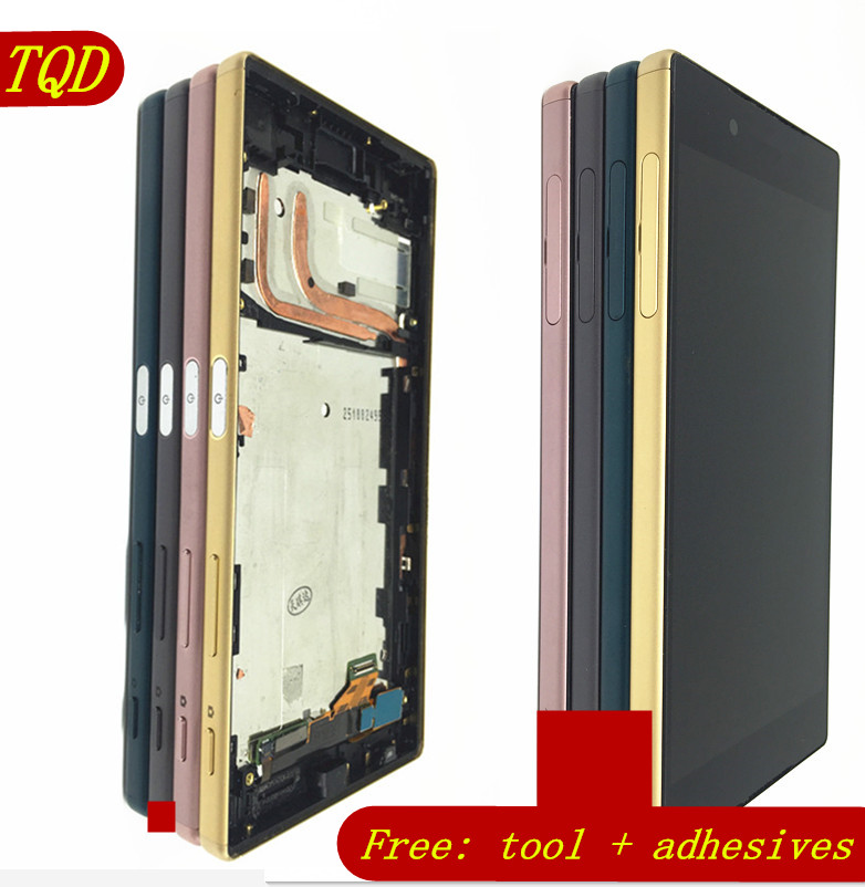 For Sony Xperia Z5 E6633 E6683 LCD Display Touch Screen Digitizer Assembly with Frame Dual card 1920*1080 For 5.2 Sony Z5 LCD