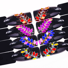 Holo Oval Horse Eye Shaped Nail Sequins Holographic Flakes Paillette Colorful 3D Tips Acrylic UV Gel Polish Decoration