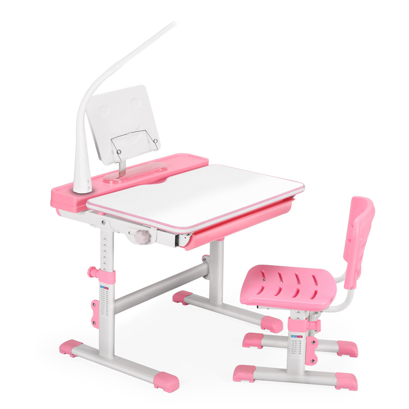 Children's Study Table Plastic Desk Can Be Raised And Lowered Student Writing Desk Study Desk And Chair Set