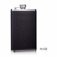 Leather 10oz Hip Flask