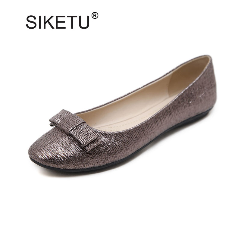 Fashion Pointed Toe Shallow Mouth Slip-on Women Flats Ladies Casual Bow Ballerinas Size 35-41 Flats For Women Female Bow Flats women fashion bow pointed toe slip on girls flats ladies casual breathable ballerinas shallow flats women flat students shoes