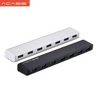 Acasis Aluminum High Speed USB3.0 HUB 7 Ports Splitter Adapter Computer Accessories High Quality USB HUB + 5V 3.5A Power Adapter