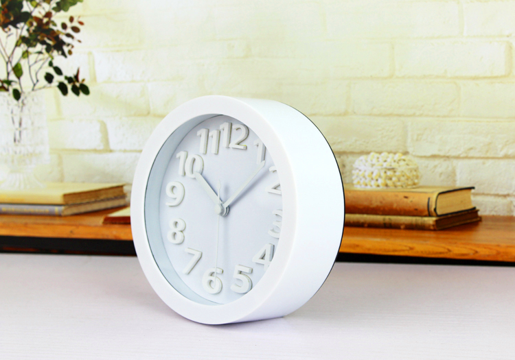 Minimalist Style White Color Alarm Clock Home Decor Fashion 3D Digital  Clocks Desk Alarm Clock For Bedroom ZX59 In Alarm Clocks From Home U0026 Garden  On ...