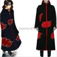 Аксессуары наруто акацуки косплей костюмы акацуки плащ черный красный облако XS-XXXL