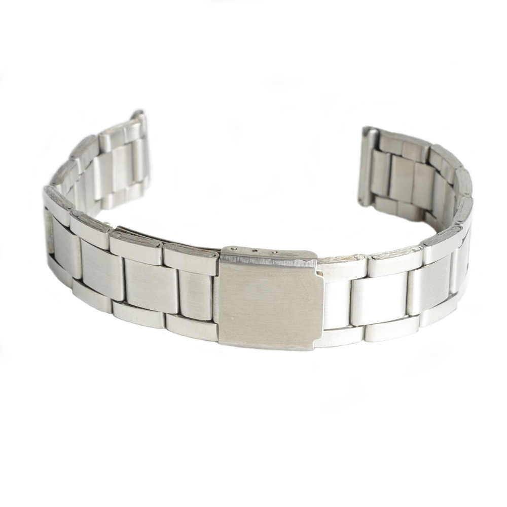 2019 New Stainless Steel Strap Silver Wrist Watch Bracelet With Folding Clasp Hot Men Women Metal Watchband
