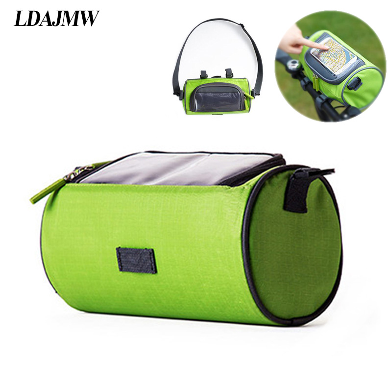 LDAJMW Waterproof Touchscreen Bike Front Head Top Tube Bag Bicycle Accesories Mobile Phone Pouch For IPhone Storage