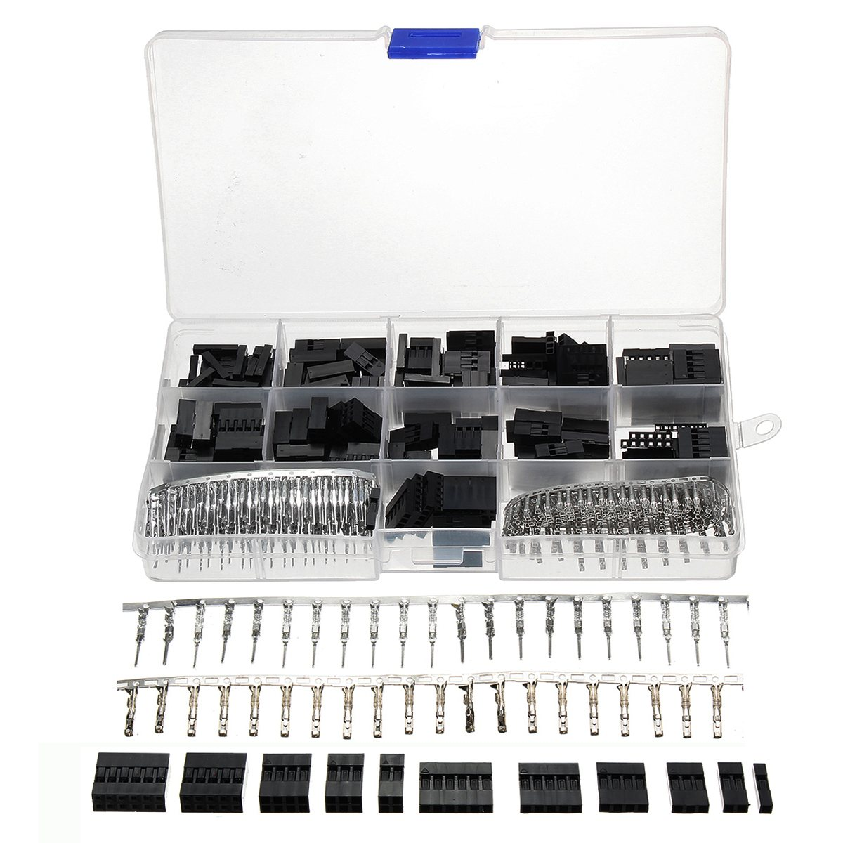 Newest Hot Sale 620Pcs/set 2mm Wire Jumper Pin Header Connector Housing Kit For Dupont and Crimp Pins