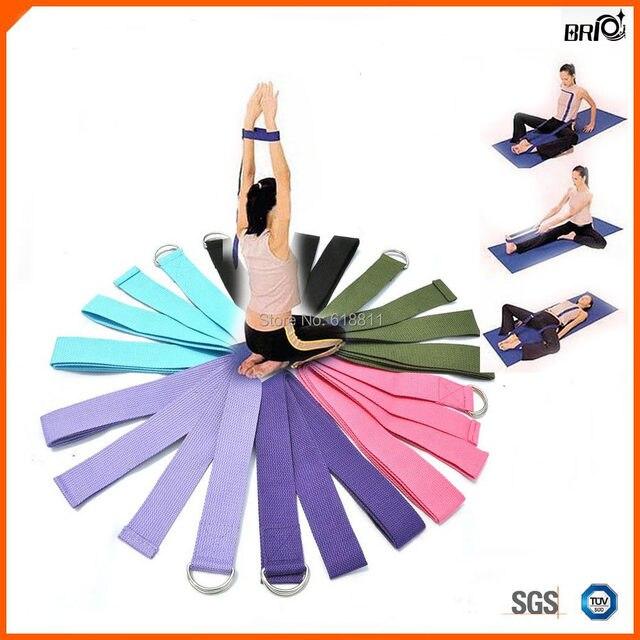 "Préférence 183 cm 70 ""Extra long Yoga Stretching ceinture Bracelet D ring  EH01"