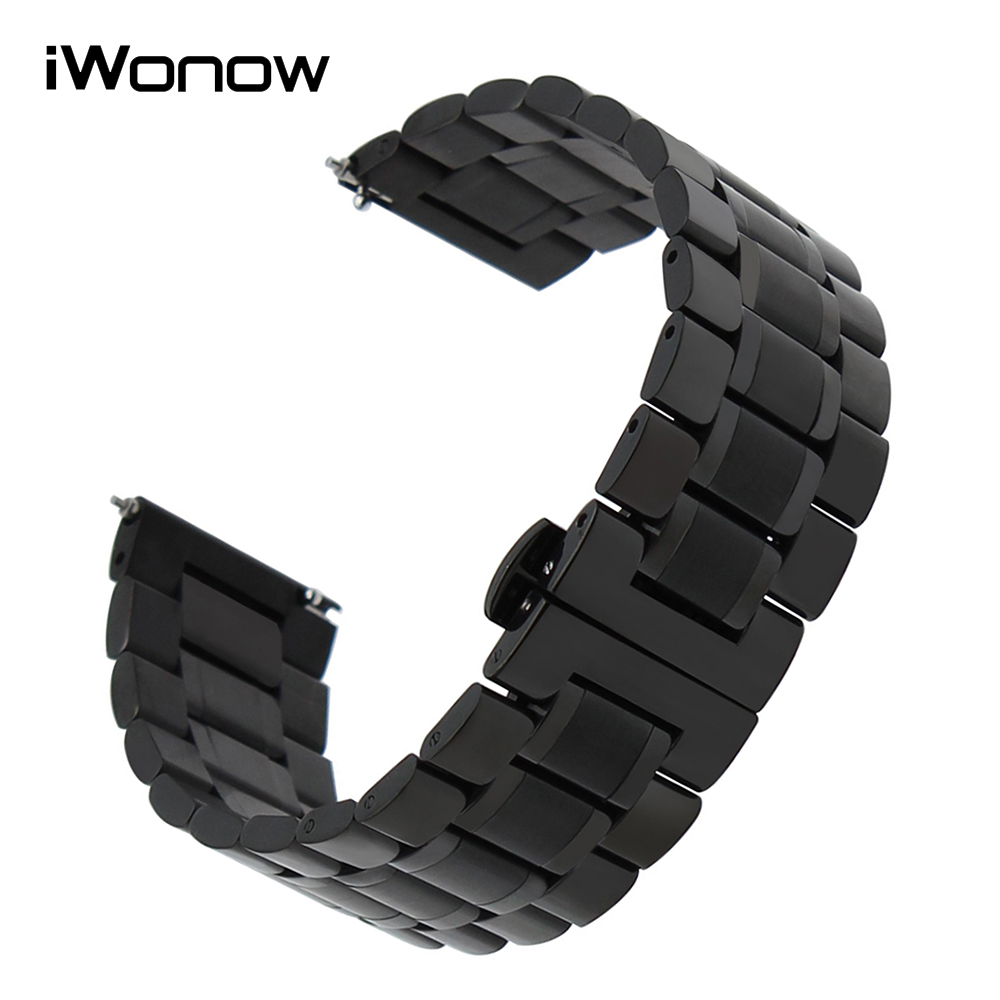 20mm 22mm Stainless Steel Watchband for Diesel Fossil Timex Armani CK DW Quick Release Watch Band