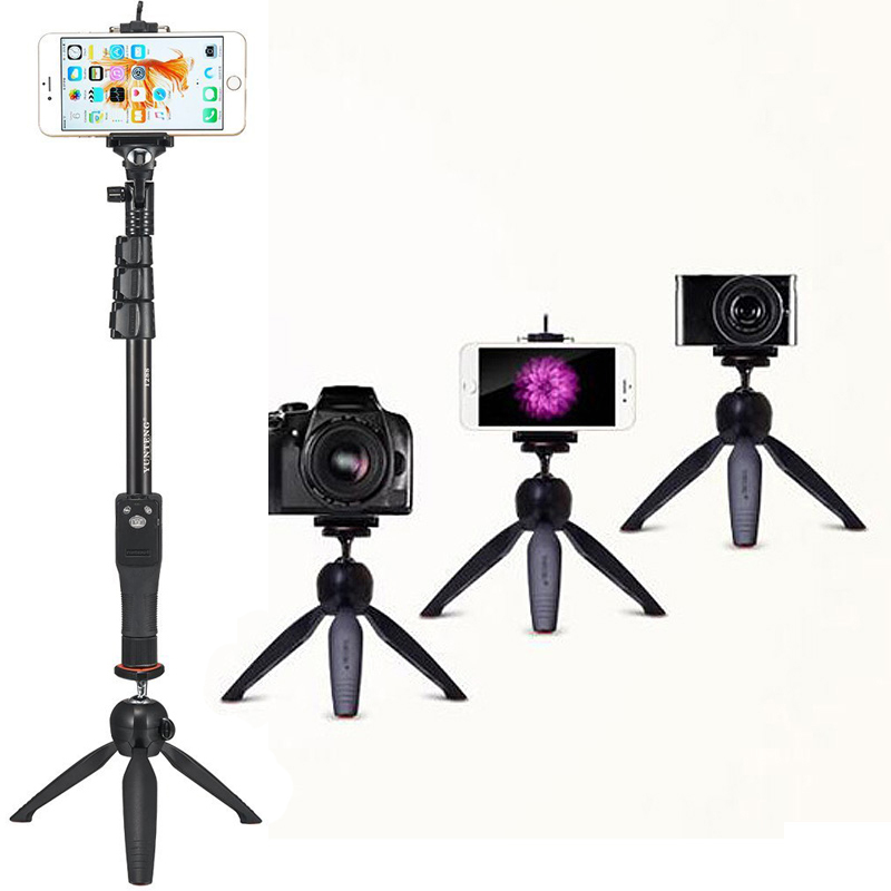 Macchina fotografica Photo Kit: bluetooth Scatto Remoto Treppiede e Palmare 2in1 Telefono Selfie Stick Monopiede Per Samsung NOTA 9 Bordo Più Z G5