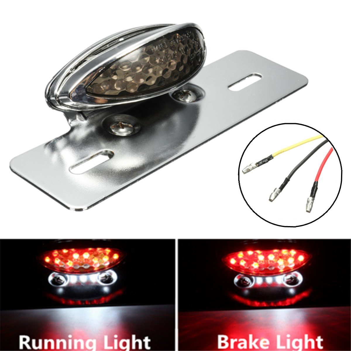 Universal Motorcycle LED Tail Stop Brake Light License Plate Lamp For Harley Bobber Chopper Cafe Racer For Yamaha 12v led universal motorcycle tail brake light license plate lamp rear stop lamp for harley davidson for honda for suzuki