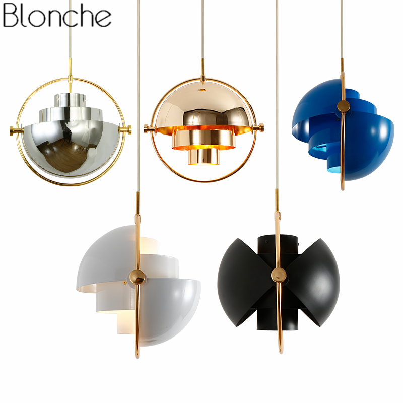 Nordic Gold Pendant Lights LED Modern Hanging Lamp Bedroom Home Loft Industrial Decor Light Fixtures E27 Metal Ball Luminaire