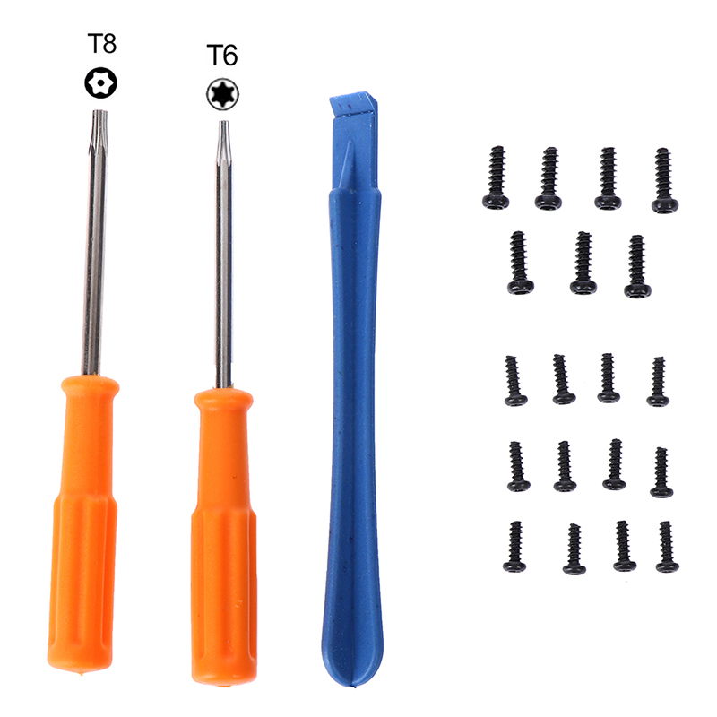 Game Tools Kit For Xbox One X S Slim/ Elite Gamepad Controller Torx T8H T6 Screwdriver Tear Down Repair Tool With Screws