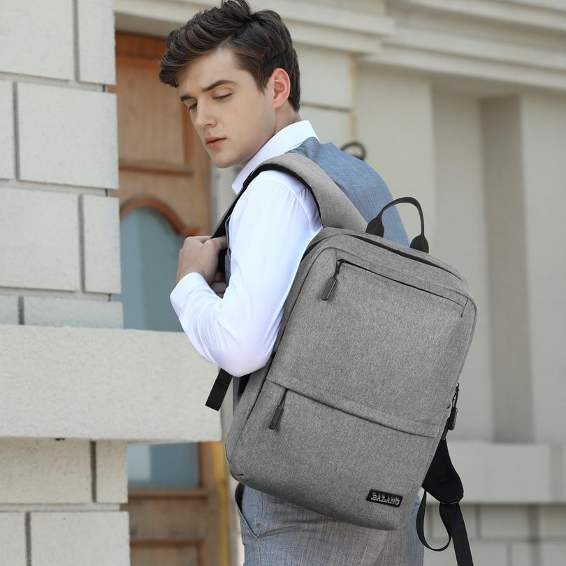 BALANG Brand Men Laptop Backpack for 15.6 inch Boy and Girl School Backpack Mulitfunction Fashion Bag Waterproof Travel Rucksack