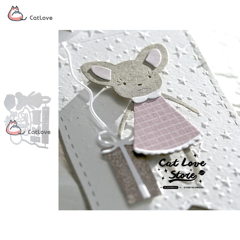 Mice Metal Cutting Dies Stencils DIY Scrapbooking Paper Card Embossing Art Craft