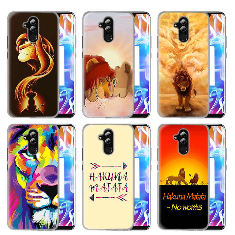 Case Cover For Huawei Honor P20 Mate 20 10 P10 P9 P8 8X 9 Lite P Smart + Plus 2017 2019 Nova 3i Clear Hakuna Matata Lion King