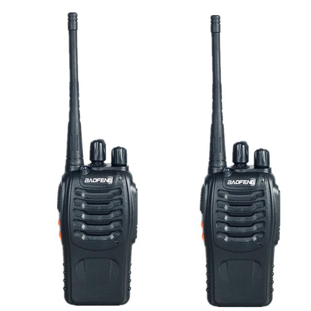 2 PCS Dual Band Rádio em Dois Sentidos Baofeng BF-888S Walkie Talkie 5 W Handheld Pofung bf 888 s 400-470 MHz scanner de rádio UHF