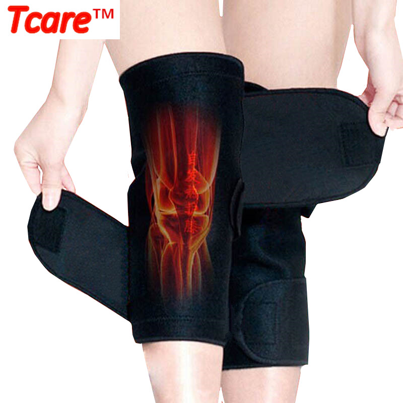 1 Pair Tcare Tourmaline Self-heating Kneepad Terapi Magnetik Sokongan Lutut Tourmaline Lutut Brace Belt Knee Massager