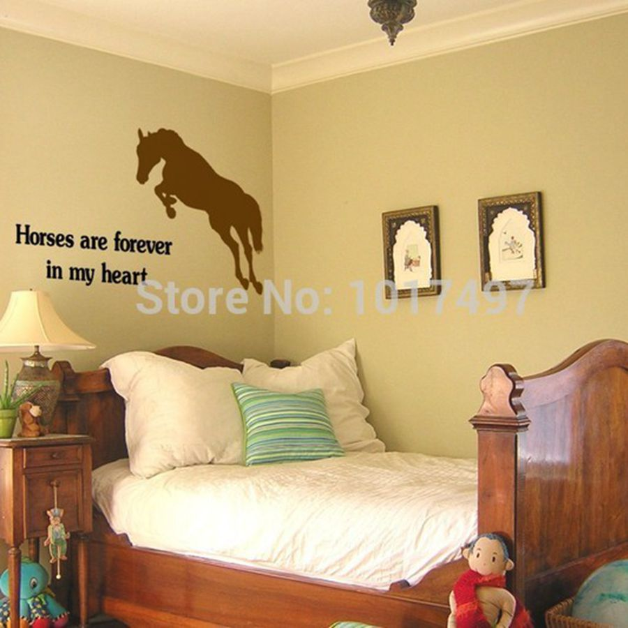 compare prices on horse wall stickers online shopping buy low multiple colors horse wall quote decals jumping horse wall art decor stickers free shipping