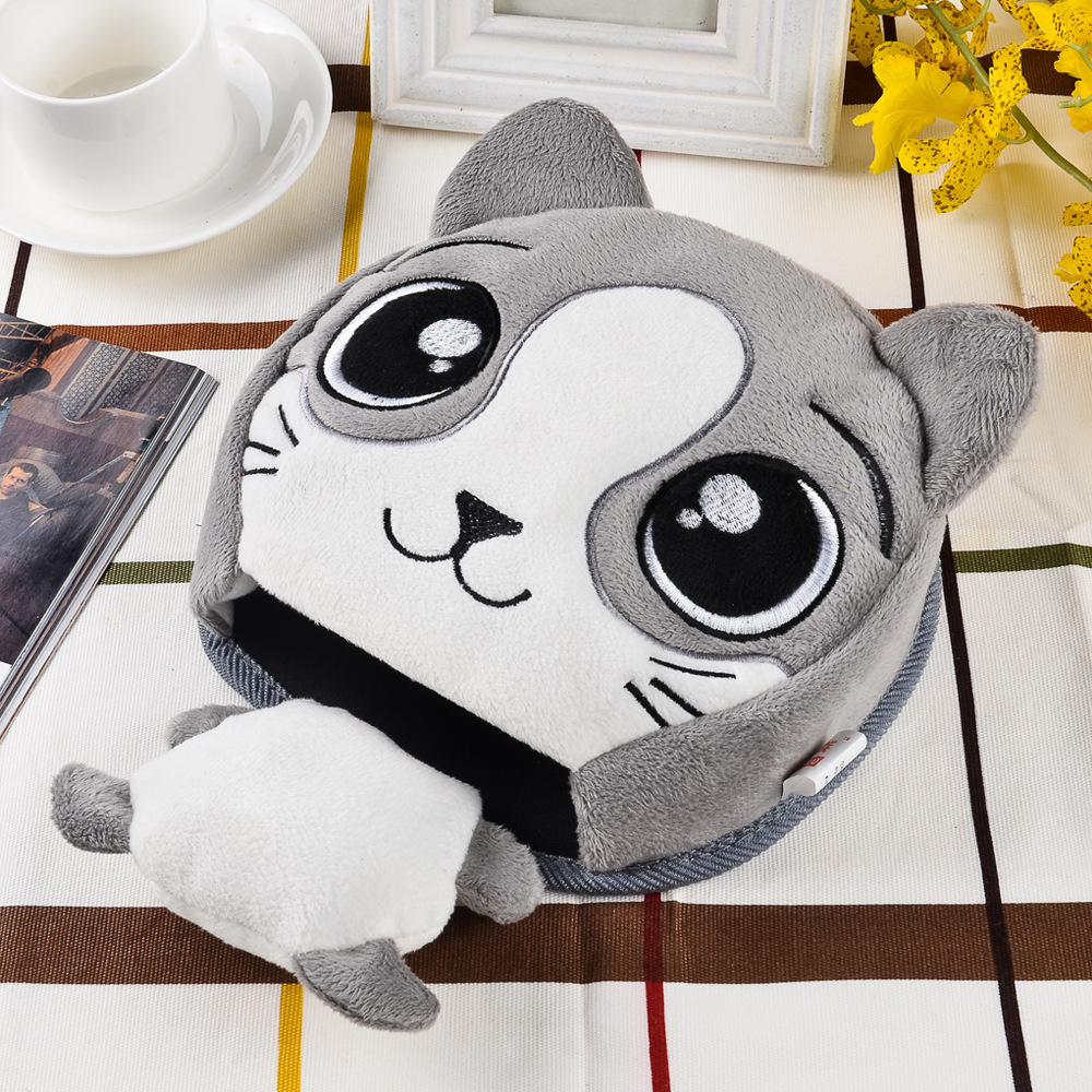 MIANZU Winter Warm Mouse Pad Thick Cartoon Plush Scaldamani riscaldati Mouse Mat Porta USB con Polsino