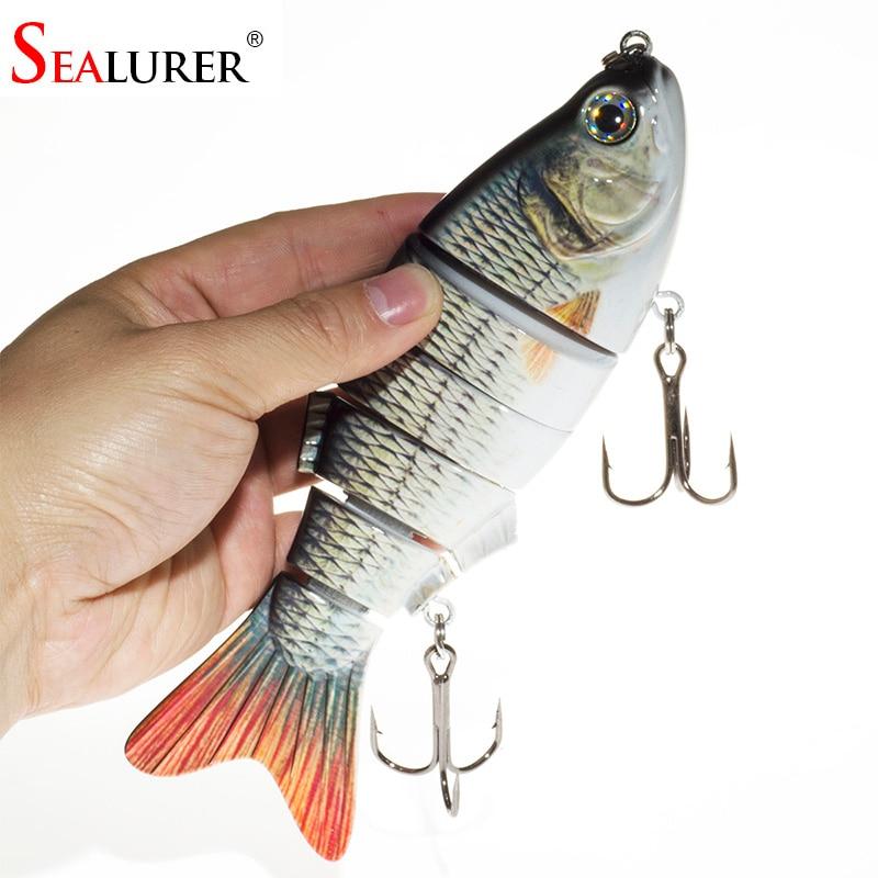 SEALURER Fishing Lures Seawate Baits 6 Segment Big Swimbait Crankbait Slow 110g 20cm Vibration Hard Baits Shad Fish Tackle в киеве воблер zip baits orbit 110 sp
