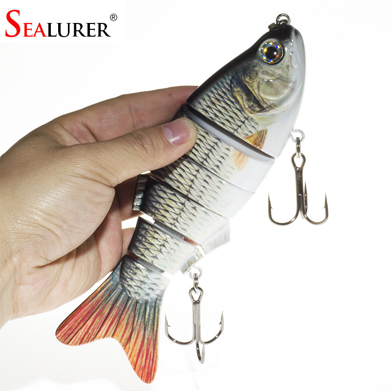 SEALURER Fishing Lures Seawate Baits 6 Segment Big Swimbait Crankbait Slow 110g 20cm Vibration Hard Baits Shad Fish Tackle