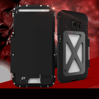 R JUST Armor King Shockproof Heavy Duty Metal Flip Case for Samsung Galaxy S7/S7 Edge/S8/S8 plus/S6/S6 Edge/S6 Edge Plus Cover