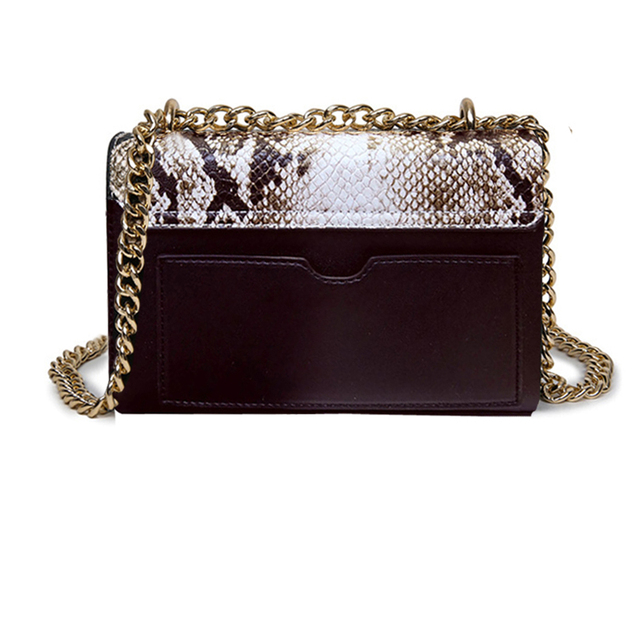 New fashioned handbags Women Messenger Bag Chain Crossbody bags Snake leather brand designer bags ladies