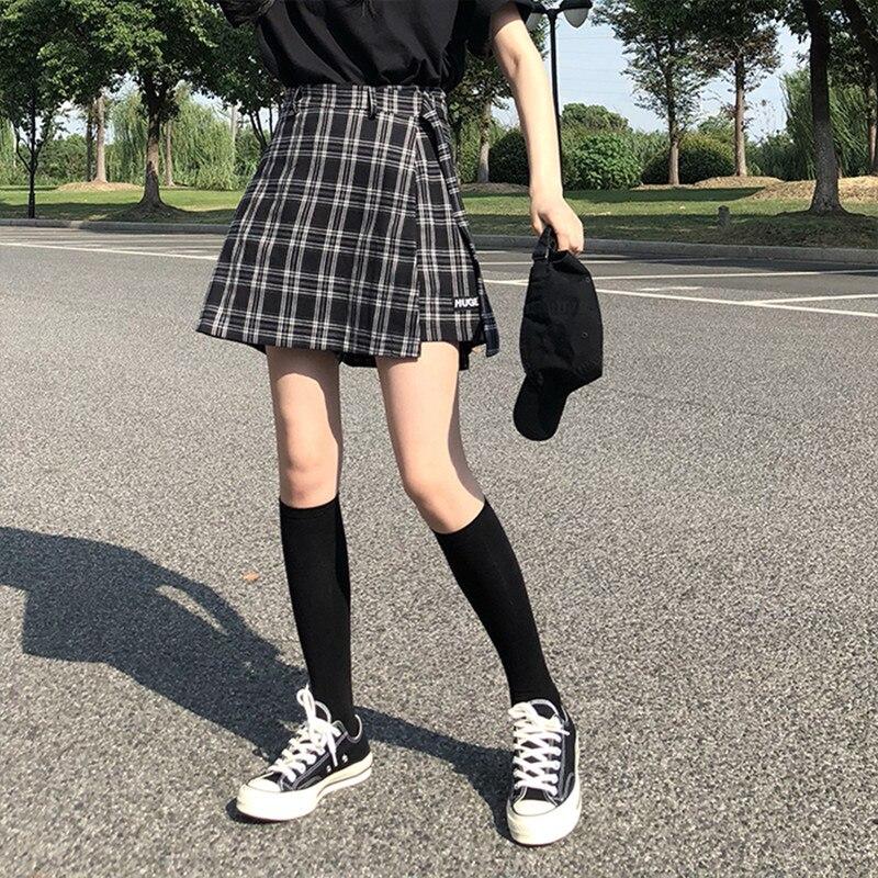 3 couleurs S-L 2018 automne et hiver taille haute Shorts jupes femmes coréen style preppy fille école plaid Shorts femmes (X882)