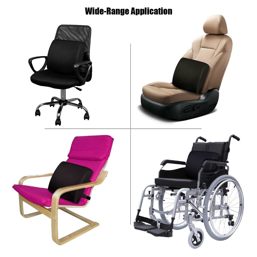 Memory Foam Lumbar Support Seat soft Pillows Breathable Healthcare Back Massager universal car Home Office Relieve Pain Pakistan